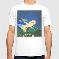 Mermaid Valley part I Mens Fitted Tee White SMALL
