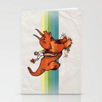 Dinosaur Cowboy Rodeo! Stationery Cards