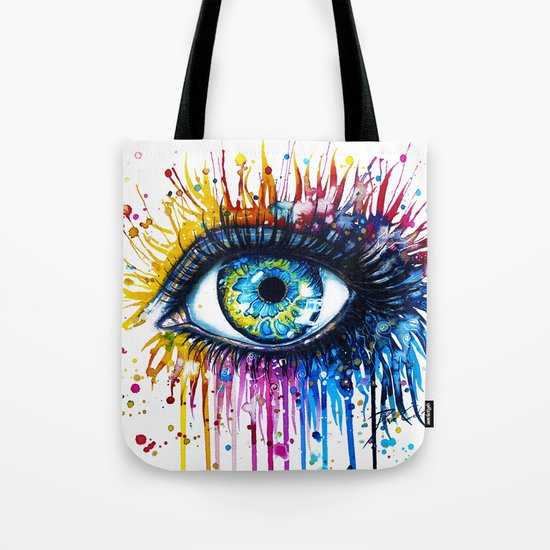 """Rainbow Eye"" Tote Bag"
