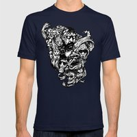 Horror Doodle Mens Fitted Tee Navy SMALL