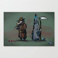 #40 Discworld Noir: Lewt… Canvas Print