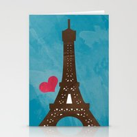 eiffel Stationery Cards featuring Eiffel by Daniela Marti