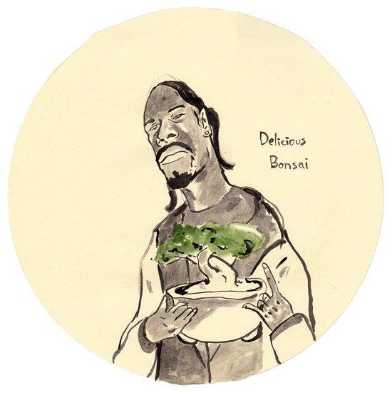 Snoop Dogg about to eat a Bonsai tree Art Print