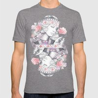 Queen of Roses Mens Fitted Tee Tri-Grey SMALL