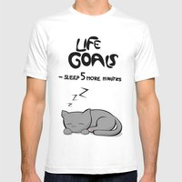 Life Goals Mens Fitted Tee White SMALL