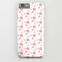Watercolor floral pattern -small pink flowers iPhone 6 Slim Case