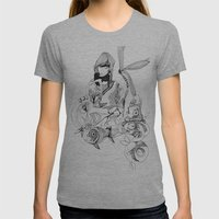 Aquarium Womens Fitted Tee Athletic Grey SMALL