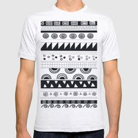Tribal Pattern Mens Fitted Tee Ash Grey SMALL