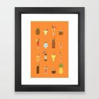 Tiki Drinks Framed Art Print