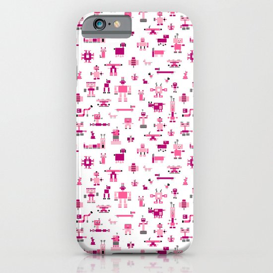 Robots-Pink iPhone & iPod Case