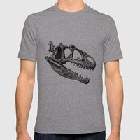 Allosaurus Mens Fitted Tee Athletic Grey SMALL