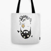 Make Beards not War (typo edition) Tote Bag