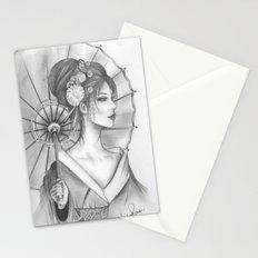 Elegant Oriental Japanese Geisha by Ashley Rose Standish Stationery Cards