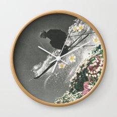 Spring Skiing Wall Clock