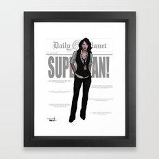 Best Darn Reporter Framed Art Print