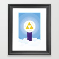 The Creation of Hyrule Framed Art Print