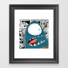 The Horror of it all BYRON Black and White Version Framed Art Print
