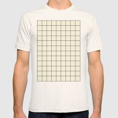 simple grid Mens Fitted Tee Natural SMALL