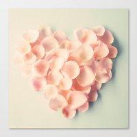 Love Petals Canvas Print