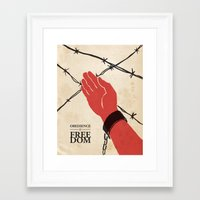 OBEDIENCE Is FREEDOM - O… Framed Art Print