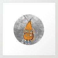 Mr Pear Art Print