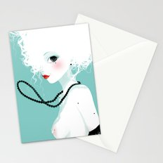Black pearls Stationery Cards