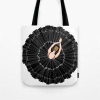 Black Ballerina Tote Bag