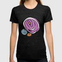 Roses Womens Fitted Tee Tri-Black SMALL