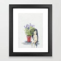 listening to the lavender's breath Framed Art Print