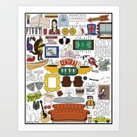 collage Art Prints featuring Collage by Loverly Prints