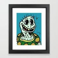 A TORTOISE. Framed Art Print
