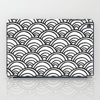 Waves All Over - Black A… iPad Case