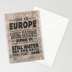 Off To Europe Stationery Cards