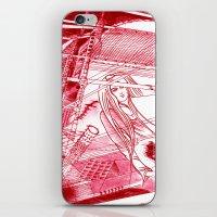 Midnight Blossom / Original A4 Illustration / Pen & Ink iPhone & iPod Skin
