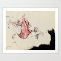 Tongue-in-Check  Art Print