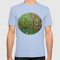 Beautiful Forest Mens Fitted Tee Tri-Blue SMALL