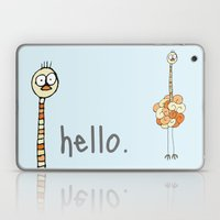 Hello Ostrich Laptop & iPad Skin