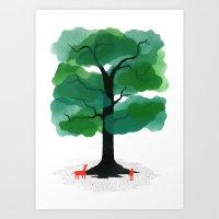 Man & Nature - The Tree … Art Print