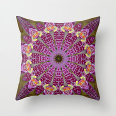 PURPLE ORCHID CIRCLE Throw Pillow