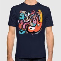 #1990 Mens Fitted Tee Navy SMALL