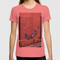 The Floating Man Womens Fitted Tee Pomegranate SMALL