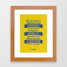 Charity Framed Art Print