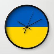National Flag Of Ukraine… Wall Clock