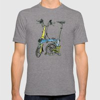 My brompton standing up Mens Fitted Tee Tri-Grey SMALL