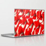 Red & White Laptop & iPad Skin