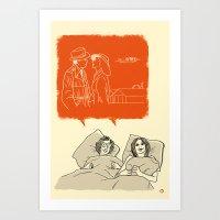 Woody And Diane And Hump… Art Print