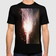 fireworks tracer Mens Fitted Tee Black SMALL