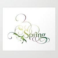 Spring Lettering Art Print