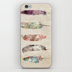 pop art feathers iPhone & iPod Skin