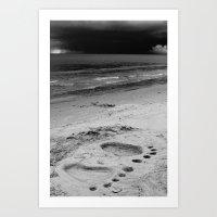 Barefoot Beach Art Print